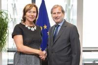 Visite de Olga Algayerová, secrétaire exécutive de la Commission économique des Nations Unies pour l'Europe (UNECE), à la CE
