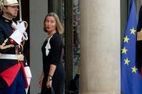 Visite de Federica Mogherini, vice-présidente de la CE, en France