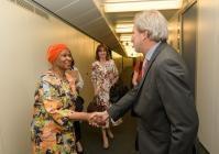 Visite de Phumzile Mlambo-Ngcuka, secrétaire générale adjointe des Nations unies et directrice exécutive d'ONU Femmes, à la CE