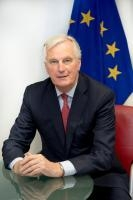 Michel Barnier, négociateur en chef responsable du groupe de travail de la CE