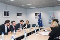Visite d'Emiliano Garcia-Page, président du gouvernement régional de Castille-La Manche, à la CE