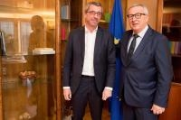 Jean-Claude Juncker, President of the EC, receives Mr Frank Engel, Member of the European Parliament