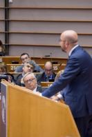 Participation of Jean-Claude Juncker, President of the EC, and Marianne Thyssen, Member of the EC, at the Plenary session of the European Parliament in Brussels.