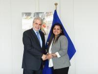 Visite de Jayathma Wickramanayake, envoyée spéciale d'António Guterres secrétaire général des Nations unies, pour la Jeunesse, à la CE