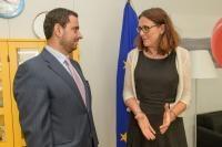 Visite de Tariq Hammouri, ministre jordanien de l'Industrie, du Commerce et des Approvisionnements, à la CE