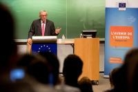 Participation of Jean-Claude Juncker, President of the EC, at the Great European Conference Jean Rey at Liège University