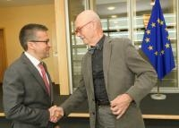 Visit of Pascal Lamy, former Director General of the World Trade Organization (WTO), and Honorary President of Notre Europe - Jacques Delors Institute, to the EC