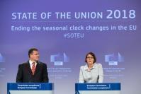 Press conference by Maroš Šefčovič, Vice-President of the EC, and Violeta Bulc, Member of the EC, on seasonal clock changes.