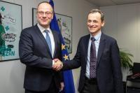 Visite de Pedro Duque, ministre espagnol de la Science, de l'Innovation et de l'Enseignement supérieur, à la CE