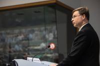 Participation de Valdis Dombrovskis, vice-président de la CE, à une conférence sur la préparation de rapports de surveillance pour l'ère numérique