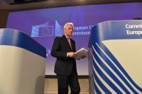 Conférence de presse de Michel Barnier, négociateur en chef de la CE pour les négociations au titre de l'article 50 avec le Royaume-Uni