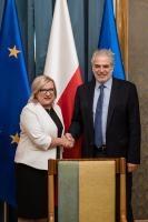 Visite de Christos Stylianides, membre de la CE en Pologne