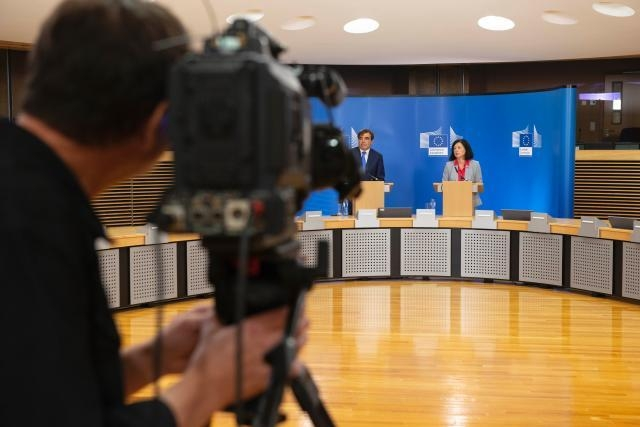 Press conference of Vĕra Jourová, Member of the EC, on the data protection adequacy decision between the European Union and Japan