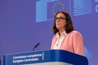 Conférence de presse de Cecilia Malmström, membre de la CE
