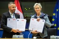 EU-Canada administrative agreement signature for mutual exchange of data on dangerous non-food consumer products, in the framework of CETA