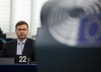 Participation de Valdis Dombrovskis, vice-président de la CE, à la session plénière du PE