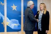 Visite de Fofi Gennimata, présidente de la coalition grecque Movement for Change, et membre du Parlement grec, à la CE