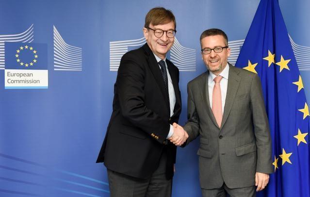Visit of Otmar Wiestler, President of the Helmholtz Association, to the EC