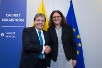 Visit of Carlos Holmes Trujillo García, Colombian Minister for Foreign Affairs, to the EC