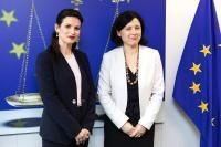 Visite de Etilda Gjonaj, ministre albanaise de la Justice, à la CE