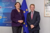 Visit of Eamonn Brennan, Director General of Eurocontrol, to the EC