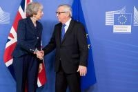 Visite de Theresa May, Première ministre britannique, à la CE