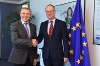 Visit of Sergey Bubka, President of the National Olympic Committee of Ukraine, to the EC