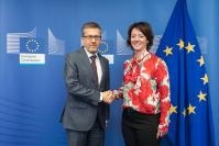 Visite de Matilda Ernkrans, ministre suédoise de l'Enseignement supérieur et de la Recherche, à la CE.