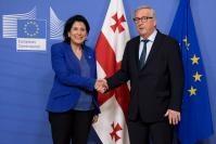 Visite de  Salomé Zourabichvili, présidente de la Géorgie, à la CE