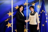 Visit of Ramona Petraviča, Latvian Minister for Welfare, to the EC