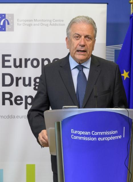 Joint press conference by Dimitris Avramopoulos, Member of the EC, and Alexis Goosdeel, Director of the EMCDDA, on the launch of the European Drug Report 2018