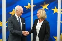Visit of Staffan De Mistura, Special Envoy of the United Nations for Syria, to the EC