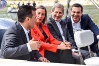 Visite de Federica Mogherini, vice-présidente de la CE, et de Johannes Hahn, membre de la CE, en Grèce et à l'ancienne République yougoslave de Macédoine
