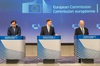 Press conference of Valdis Dombrovskis, Vice-President of the EC, and Pierre Moscovici, Member of the EC