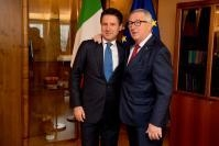Jean-Claude Juncker, President of the EC, receives Giuseppe Conte, Prime Minister of Italy