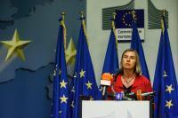 Press conference of Federica Mogherini, Vice-President of the EC, in Rome