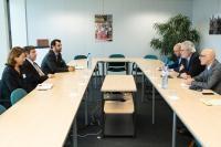 Visite de Georgios Kaminis, maire d'Athènes, à la CE