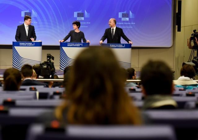 Conférence de presse sur les conclusions de la réunion du Collège par Valdis Dombrovskis, vice-président de la CE, et conférence de presse de Marianne Thyssen et Pierre Moscovici, membres de la CE, sur le paquet de printemps du semestre européen