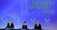 Press conference on the conclusions of the EC College meeting by Valdis Dombrovskis, Vice-President of the EC, and press conference by Marianne Thyssen and Pierre Moscovici, Members of the EC, on the European Semester Spring Package