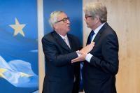 Visite de Reinhard Silberberg, représentant permanent de l'Allemagne auprès de l'UE, à la CE