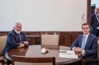 Visite de Frans Timmermans, premier vice-président de la CE, en Pologne