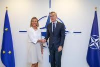 Meeting between Federica Mogherini, Vice-President of the EC, and Jens Stoltenberg, Secretary General of NATO