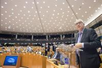 Participation of Jean-Claude Juncker, President of the EC, and Günther Oettinger, Member of the EC, at the Plenary session of the European Parliament in Brussels
