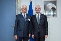 Visit of Klaus Schwab, Founder and Chairman of the World Economic Forum (WEF) of Davos, to the EC