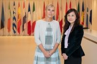Visite de Elżbieta Bieńkowska, membre de la CE en Chine