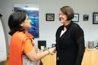 Visite de Gaitri Issar Kumar, chef de la mission de l'Inde auprès des CE, et ambassadrice auprès de la Belgique et du Luxembourg, à la CE