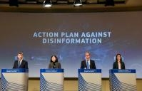 Press conference of Andrus Ansip, Vice-President of the EC, Vĕra Jourová, Julian King and Mariya Gabriel, Members of the EC, on disinformation