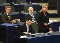 Participation de Federica Mogherini, vice-présidente de la CE, à la session plénière du PE
