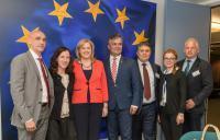 Visite des représentants du Conseil de Brașov à la CE