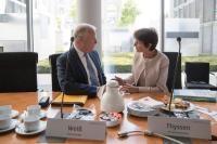 Visite de Marianne Thyssen, membre de la CE, en Allemagne